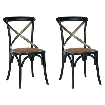 Phara Dining Chair - Black (Set of 2) - Safavieh