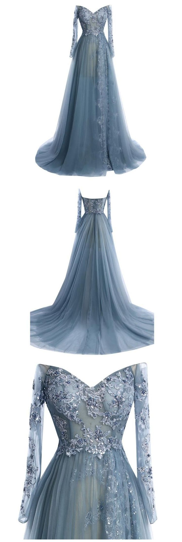 Long sleeve charming prom dresslong prom dressescharming