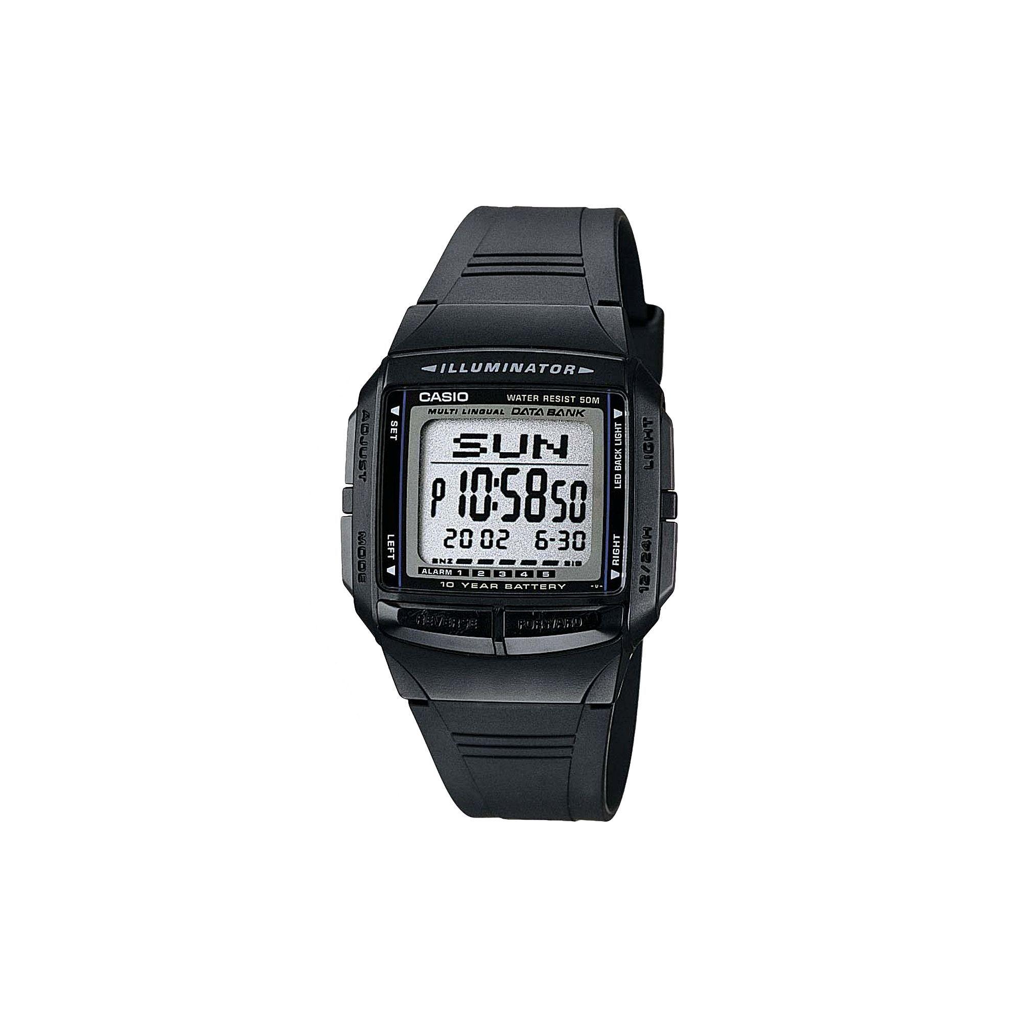 3a3cfca828e Casio Men s Illuminator Multilingual Digital Databank   Chronograph Watch -  DB36-1AV
