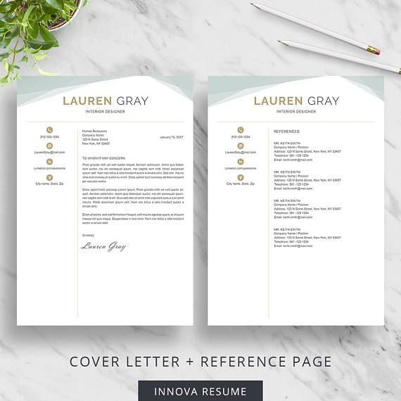 cover letter template and reference page template includes a resume template with 1 2 - Reference Page Resume Template
