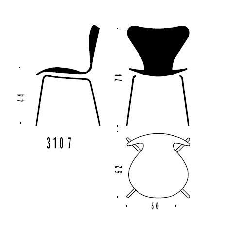 Arne Jacobsen Stühle pläne stuhl 3107 arne jacobsen stuhl 3107 fritz hansen