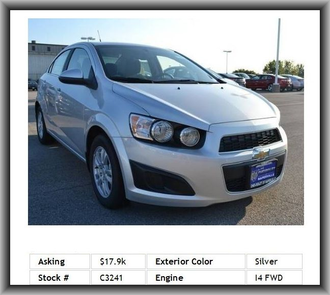2014 Chevrolet Sonic Lt Auto Sedan Mp3 Adjustable Steering Wheel Emergency Trunk Release Cloth Seats Anti Theft System Chevrolet Sonic Sedan Cars For Sale