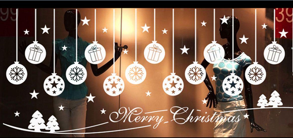 Large merry christmas windows vinyl stickers xmas shop window decals decoration ebay