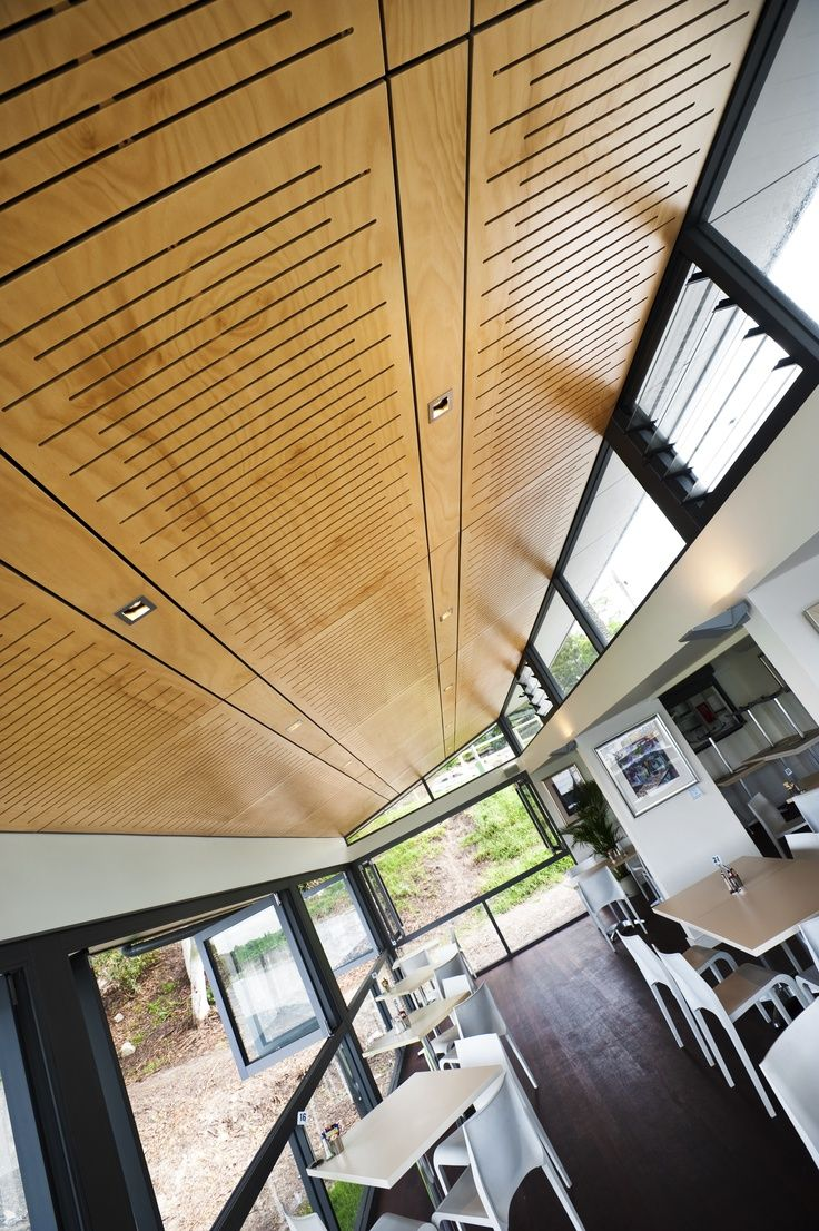 perforated plywood used as ceiling panels solid plywood with light