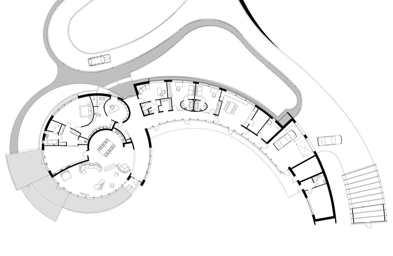 Gallery Of Villa N Audrius Ambrasas Architects 13 Interior Design Plan Organic Architecture Layout Architecture