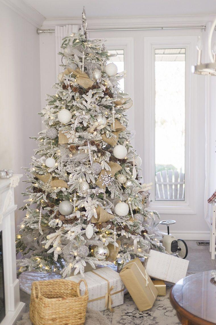 decoración para el árbol en plata y blanco | Decoración para Navidad ...