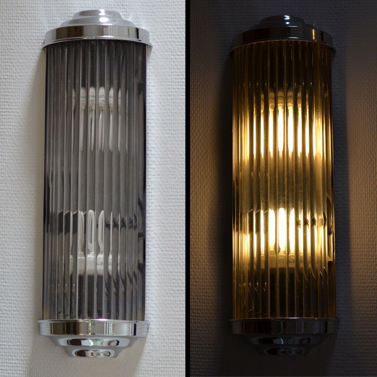 BAUHAUS WALL LIGHT CINEMA STYLE ART DÉCO CHROME LAMP ...
