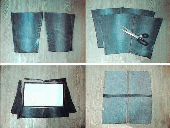 Bolso estilo DIY de los pantalones vaqueros viejos 1