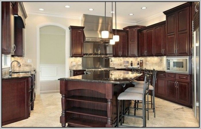 Superb Best Wall Color For Cherry Kitchen Cabinets Home Home Interior And Landscaping Transignezvosmurscom