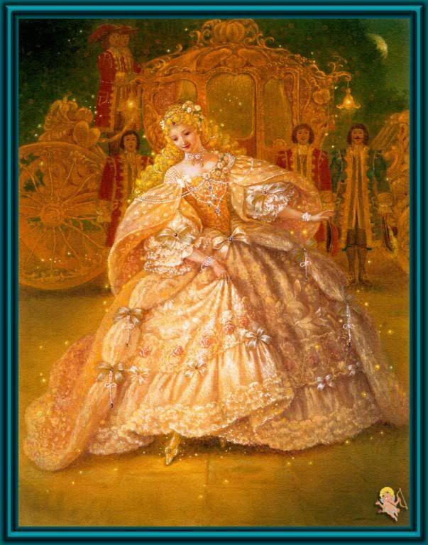 Cinderella - a beautiful illustration by Ruth Sanderson