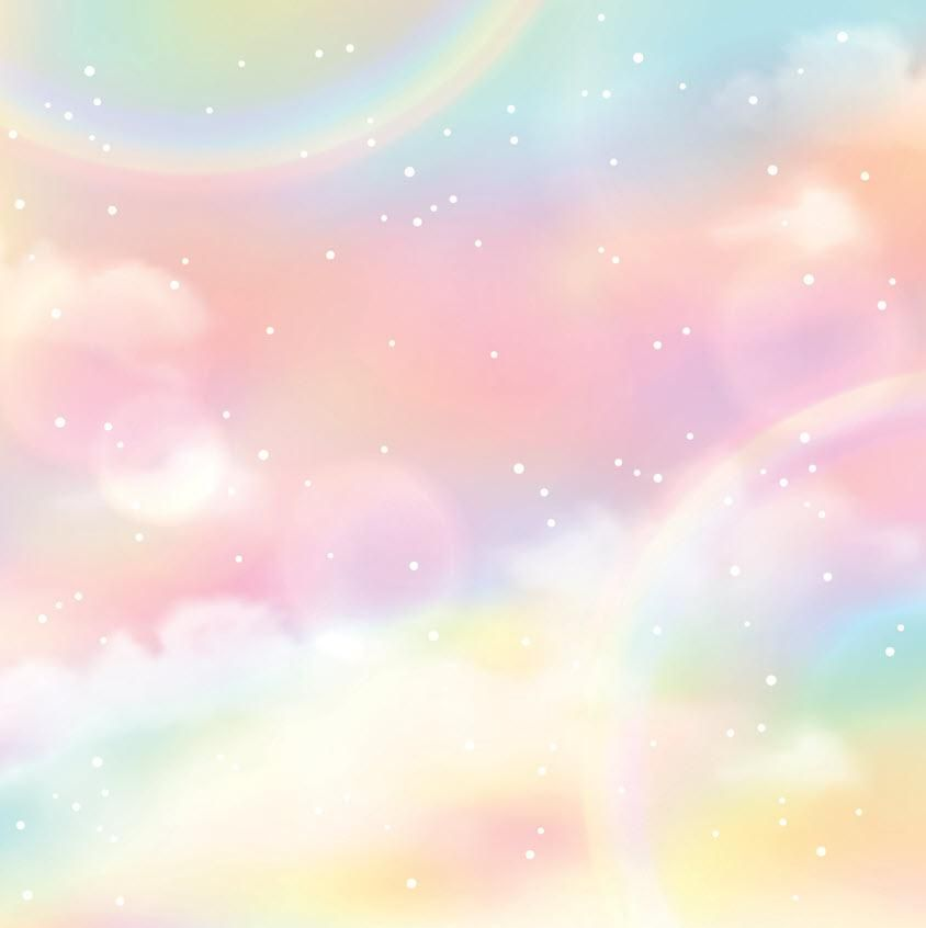 Rainbow Unicorn Clouds For Baby Show Photography Backdrop J 0202