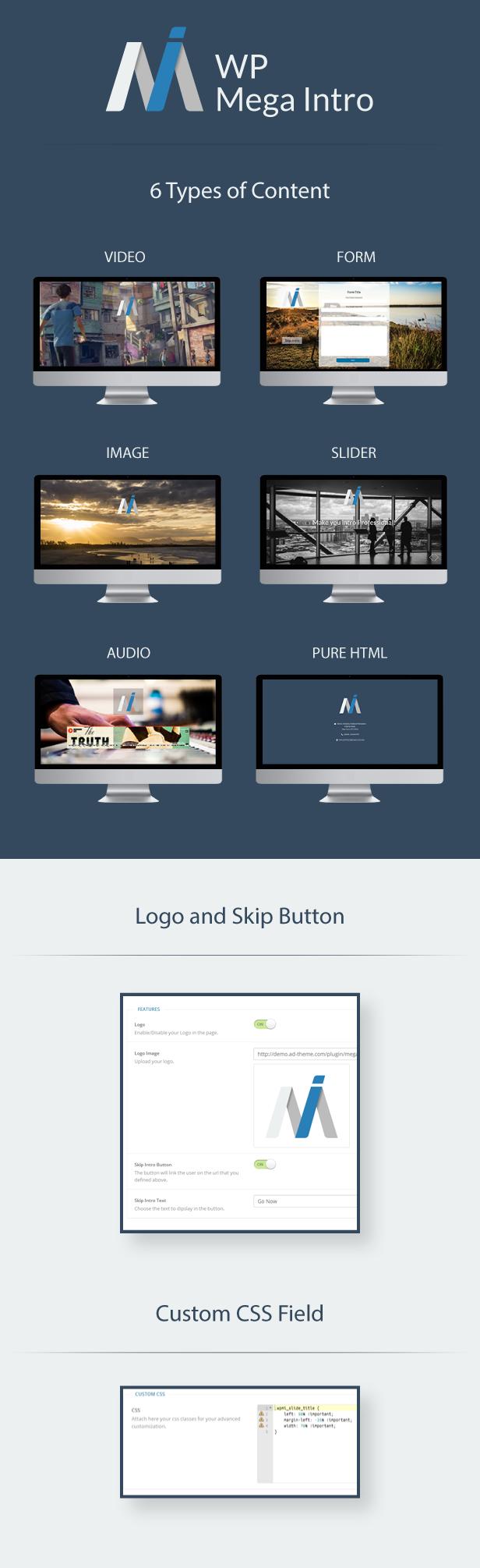 WP Mega Intro Amazing Intro Pages for WP Amazing