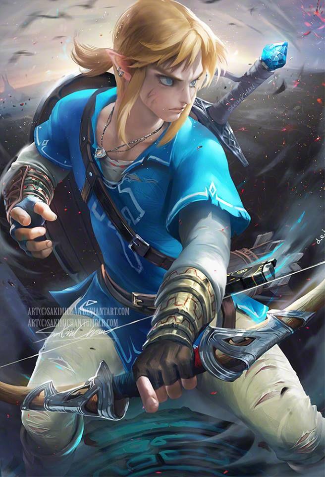 Link By Sakimichan Legend Of Zelda Breath Sakimichan Art