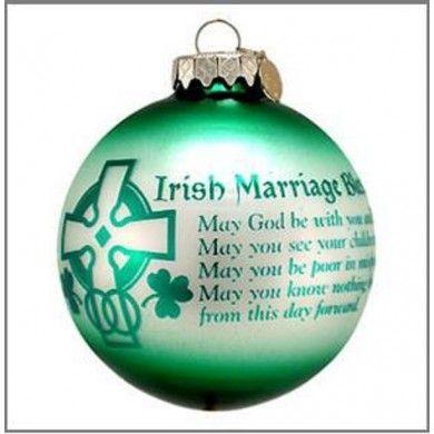 Irish Wedding Blessing Ornament