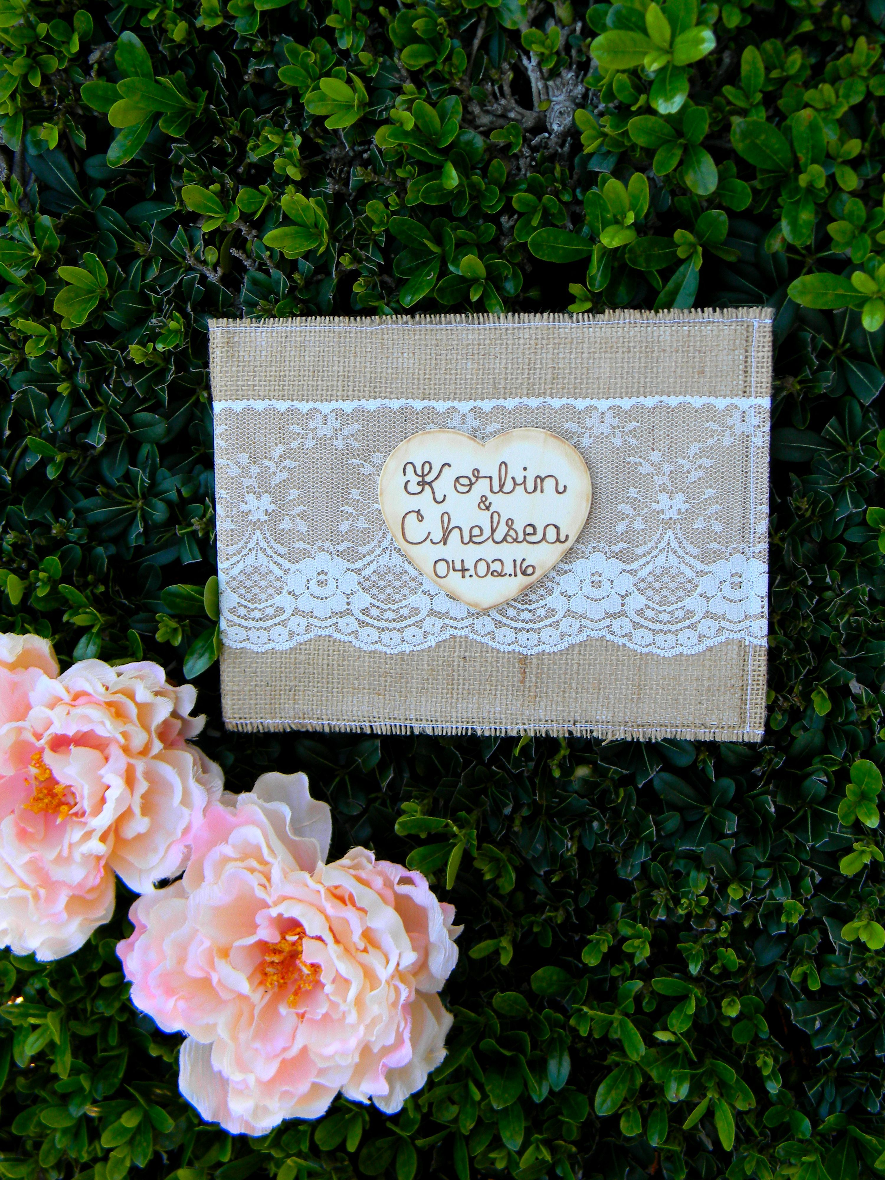 Pink Shabby Chic  Photograph Guest Book Personalised Wedding Sign