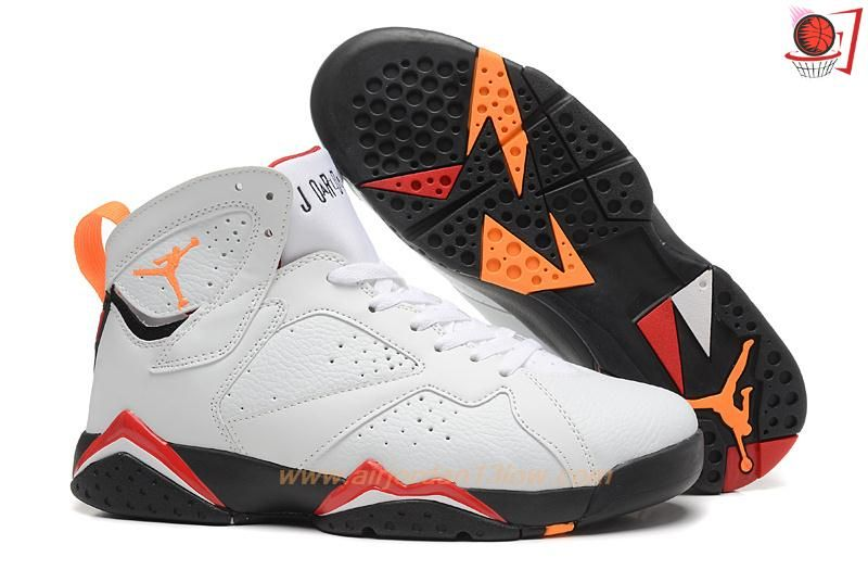 Nike Air Jordan 7 Retro VII Mens White Red Blk Bronze