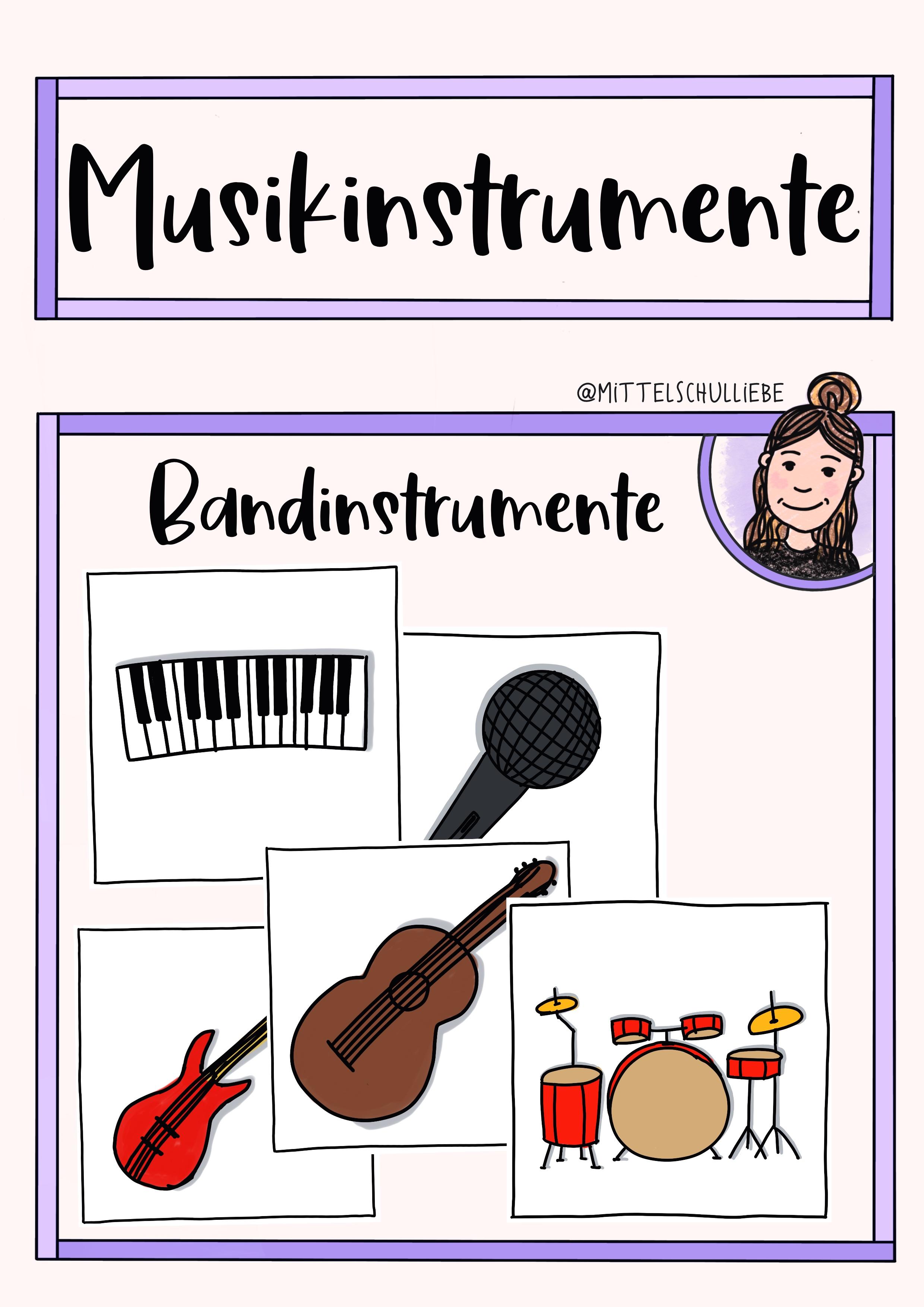 bandinstrumente  unterrichtsmaterial im fach musik in