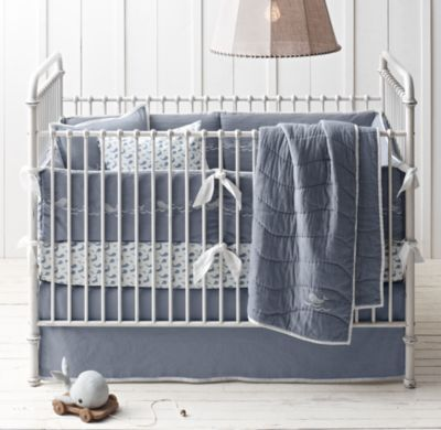 embroidered whale nursery bedding collection | baby stuff