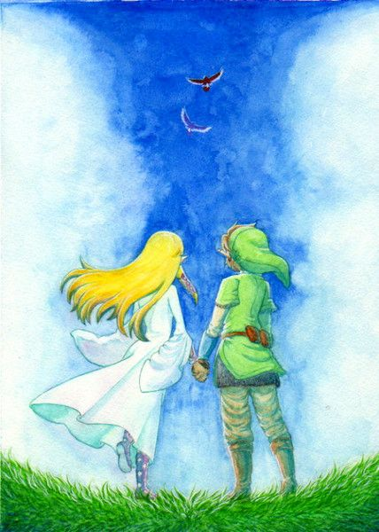 Link and Zelda... My childhood is complete.