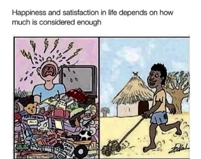 Cartoon Children With Too Many Toys Unhappy Child With One Toy In Poor Country Playing Happy Happi Funny Cartoon Memes Satirical Illustrations Cartoon Memes