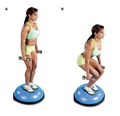 Image result for Bosu Ball Squats