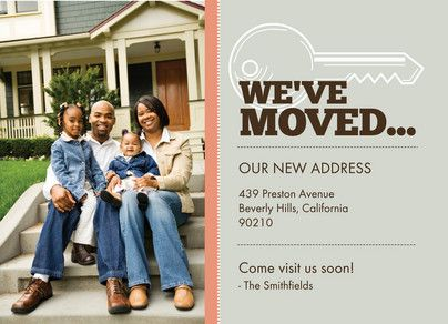 coral stripe key moving announcement just because pinterest