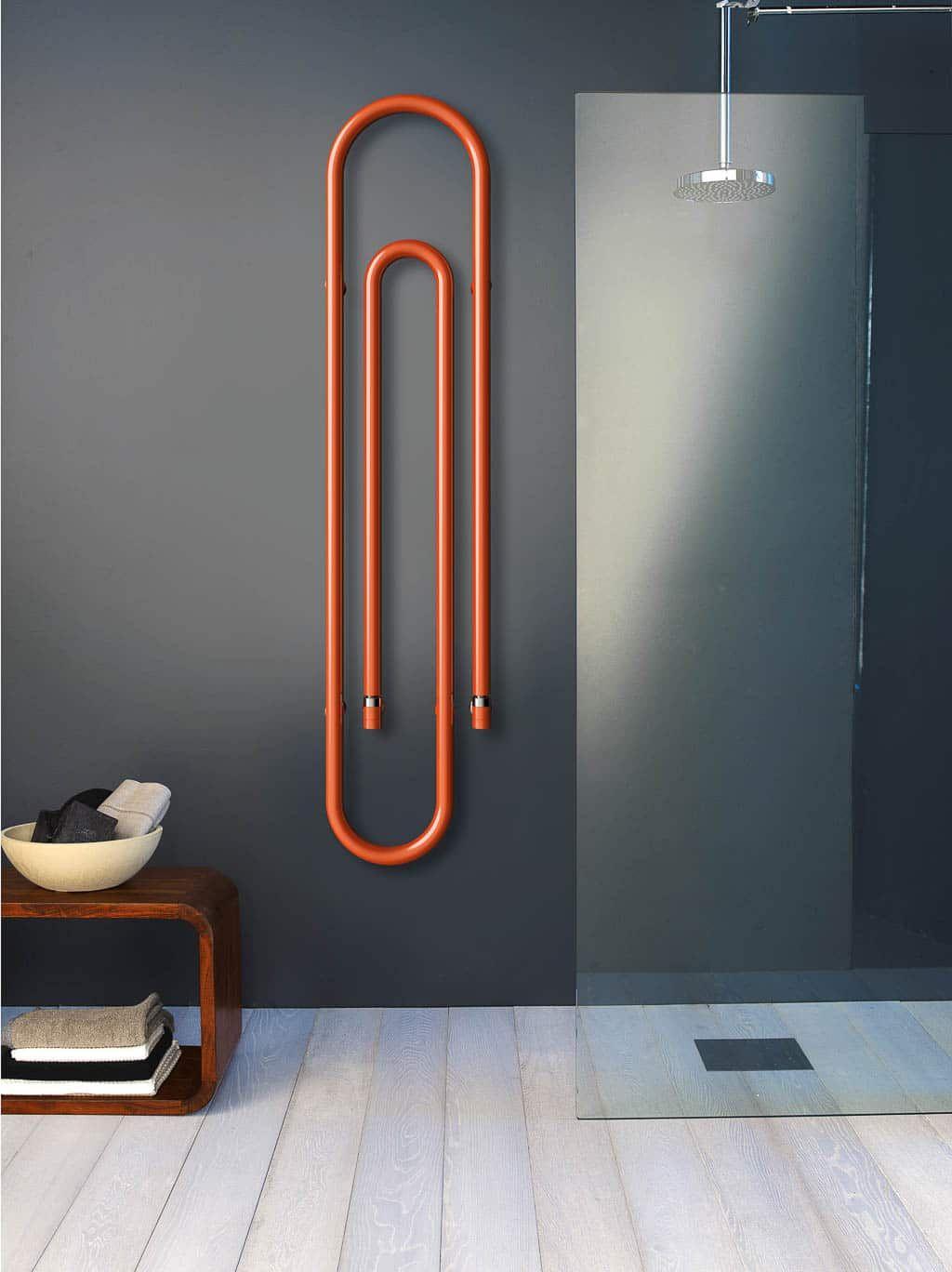 Mobile Bagno Per Asciugamani termosifone in acciaio da muro per asciugamani - design miss