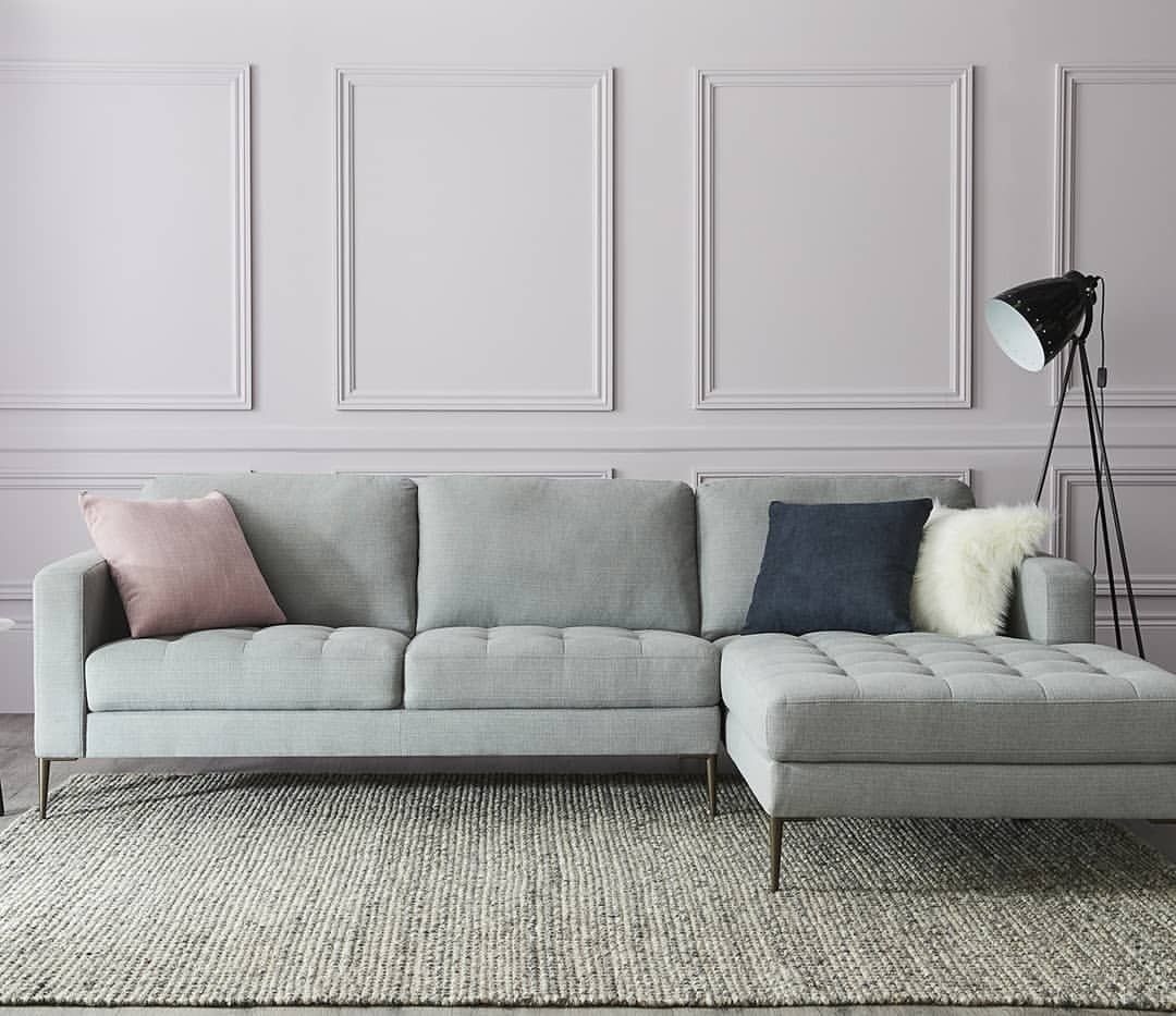 The Finlay 3 Seater Chaise Adds A Contemporary Twist To A Classic Sofa With Its Sleek Lines And Tufted Seat Cushions Get Classic Sofa Fantastic Furniture Sofa
