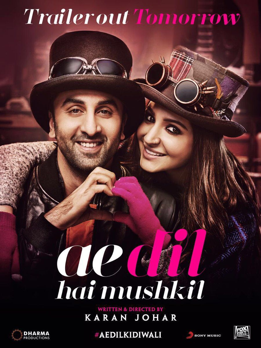 Ae Dil Hai Mushkil Movie HD Wallpaper Poster