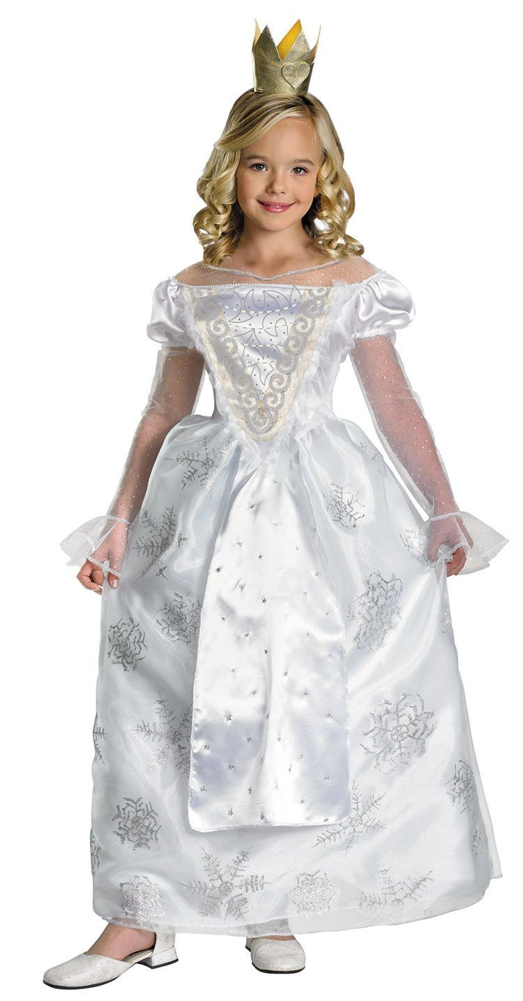 Alice In Wonderland Deluxe White Queen Girls Costume With Images