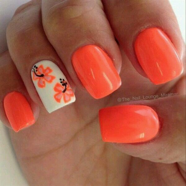 Luau nails nails pinterest luau nail nail and manicure luau nails prinsesfo Choice Image