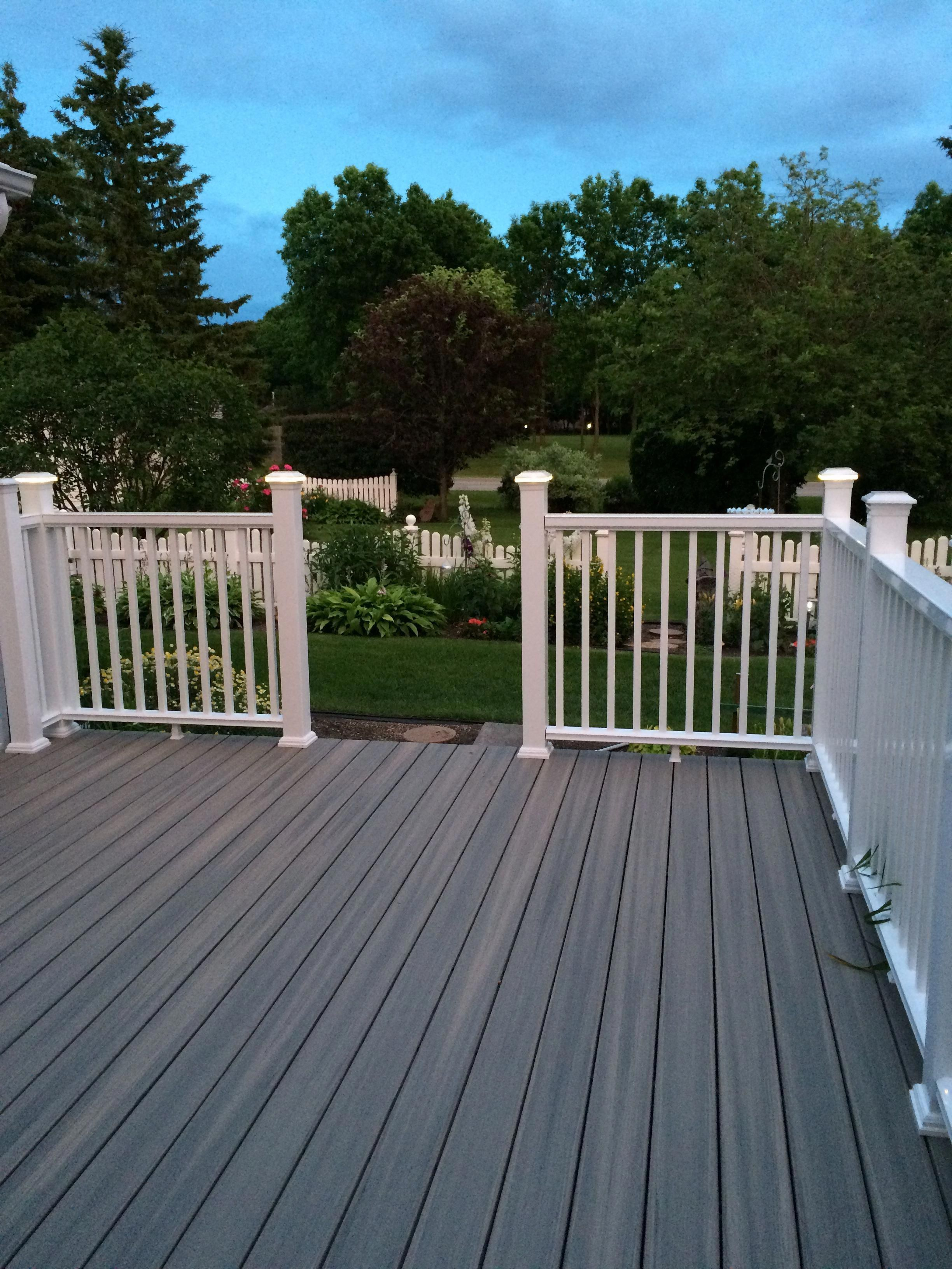 When You Ve Got A Great View You Can Keep It Simple In Terms Of Aesthetics And Maintenance Paramount Pvc Decking In F Building A Deck Deck Building Cost Deck
