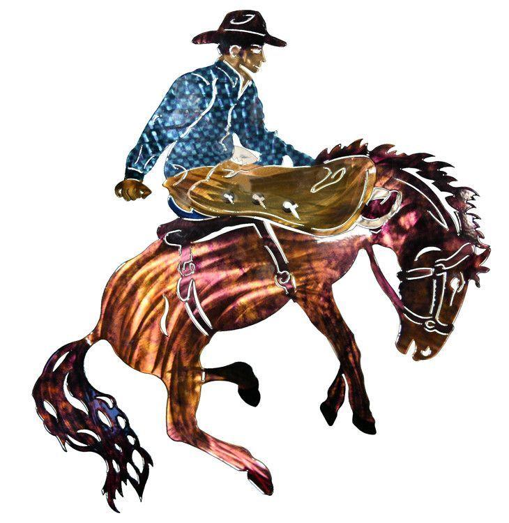 Rodeo Cowboy on Horseback Metal Wall Art  sc 1 st  Pinterest & Rodeo Cowboy on Horseback Metal Wall Art | Products | Pinterest ...