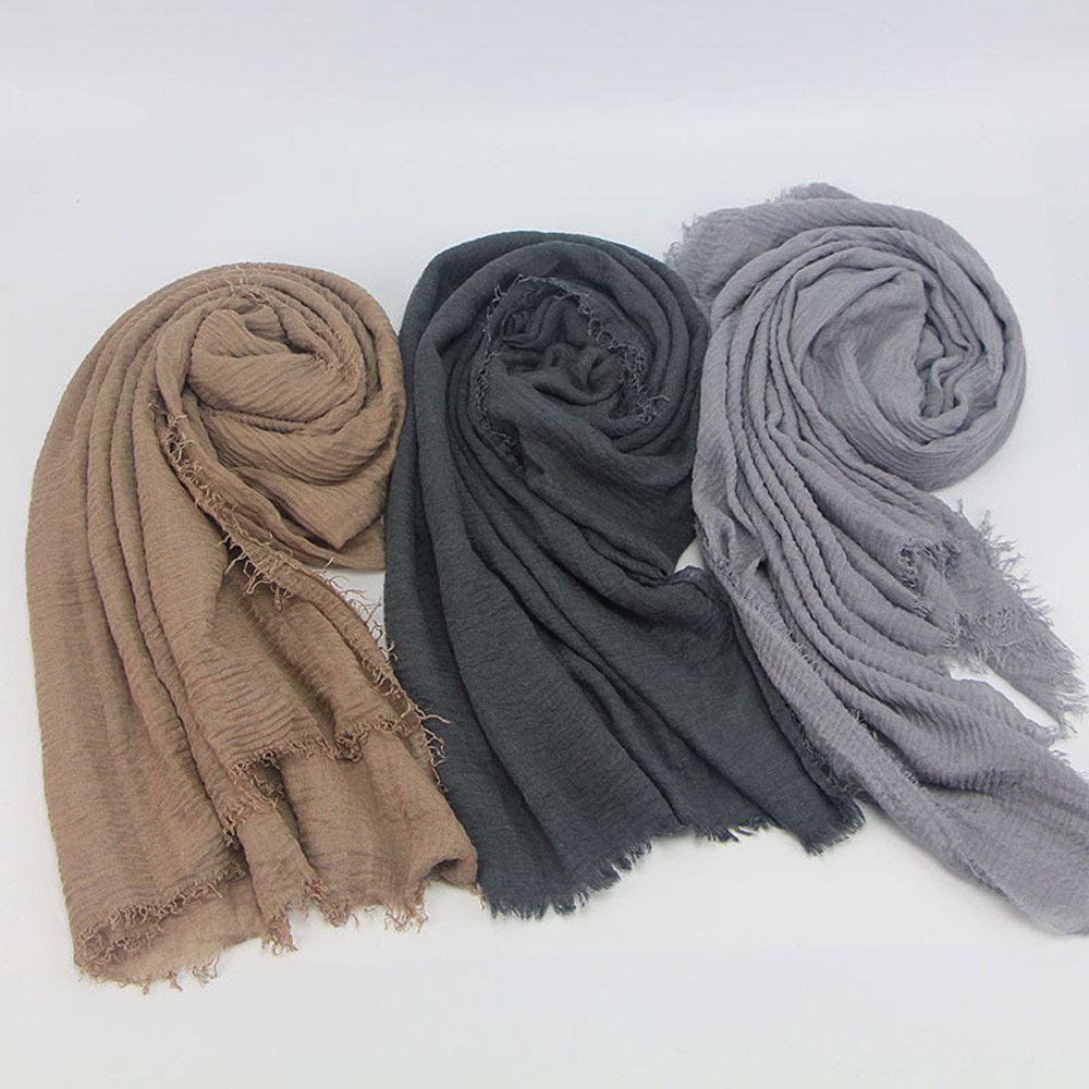 Hijab Écharpe Châle Viscose Maxi Froissé   Produits Orientals ... deccd046866