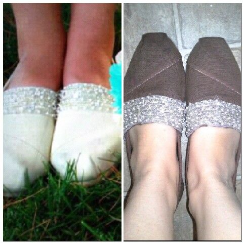 So These Were My Wedding Shoes I Bought White Toms And Added Beaded Trim To