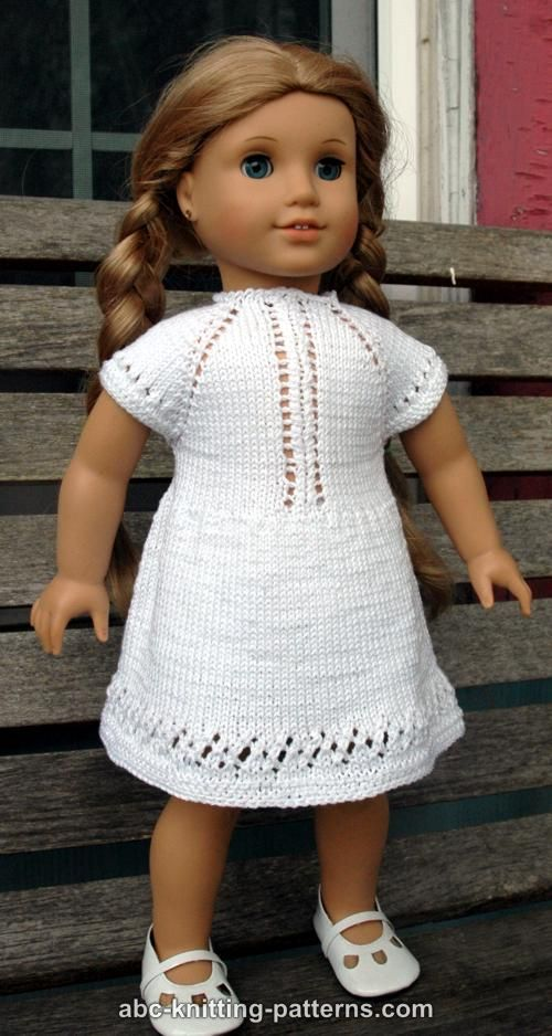 ABC Knitting Patterns - American Girl Doll Midsummer Dress | dolls ...