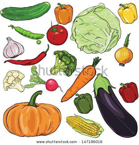 Vectorartshub Com Vegetables Fruit And Veg Vector