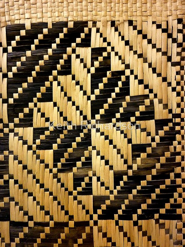 Beautifully Hand Woven Samoan Mat Poster Hand Weaving
