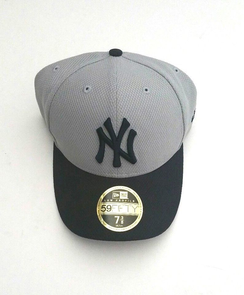 67df44d66 New Era New York Yankees 5950 Diamond Era Fitted Hat Gray/Navy Brim ...