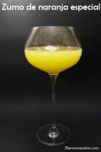 Zumo natural naranja zanahoria thermomix