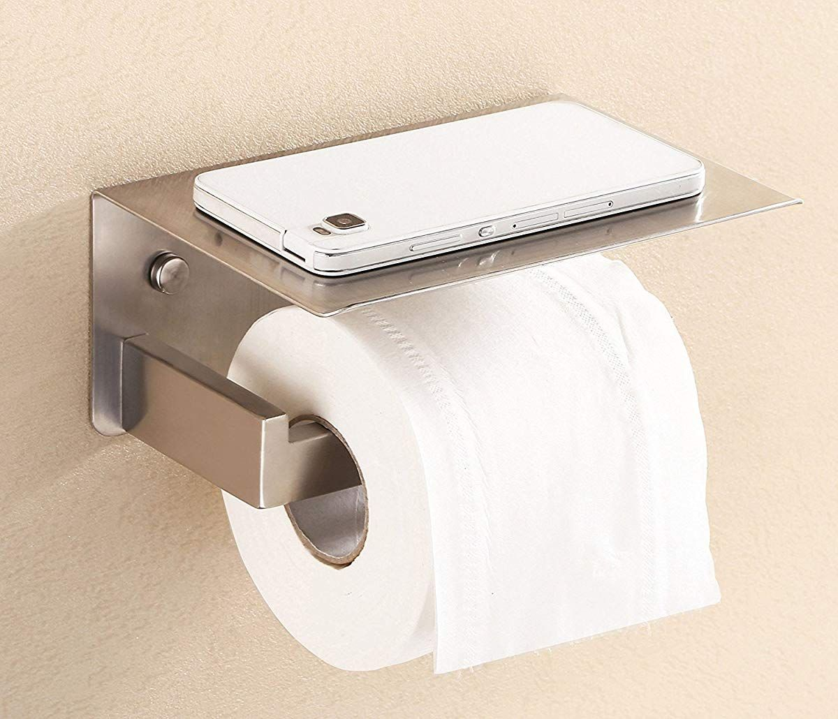 Stainless Steel Bathroom Paper Tissue Holder With Mobile Phone Toilet Paper Holder Stainless Steel Bathroom Toilet Paper