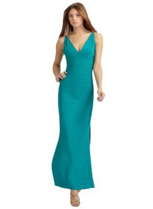 Bqueen Classic V-Neck Essential Gown H228G,  Dress, Bqueen Classic V-Neck Essential Gown, Chic
