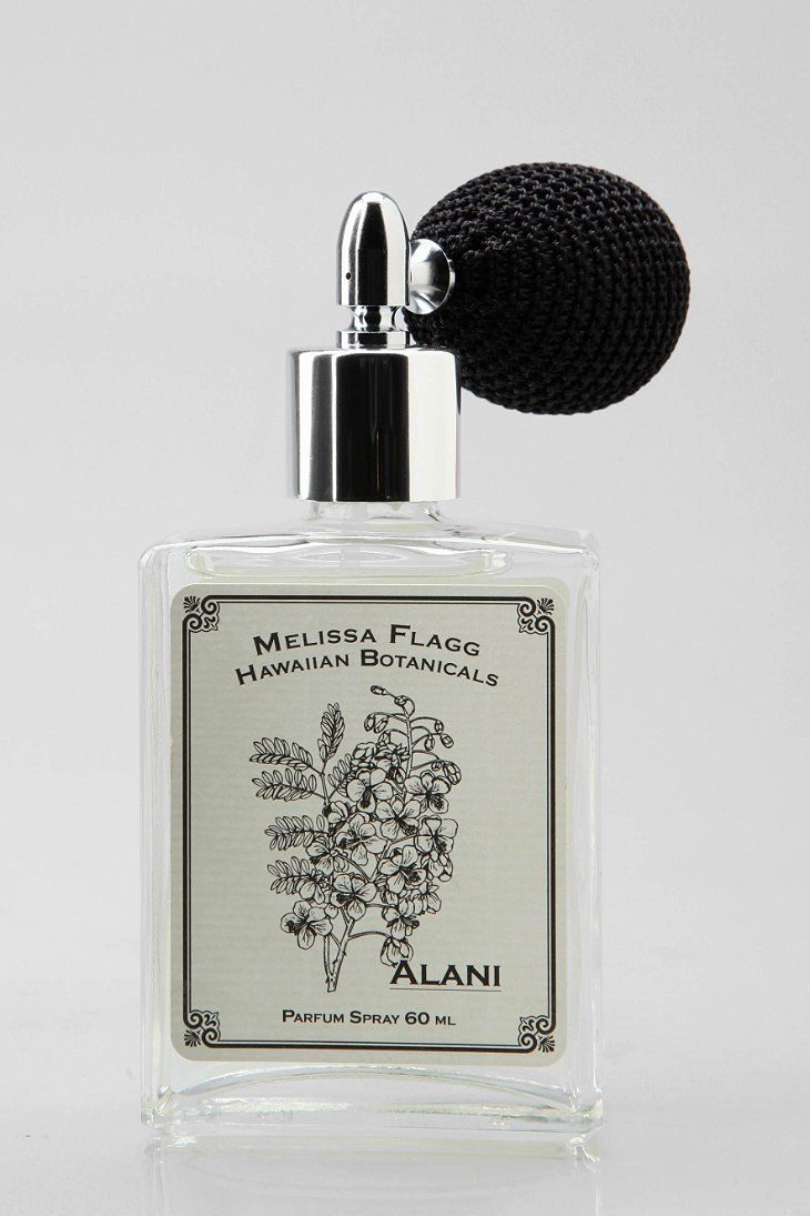 Melissa Flagg Hawaiian Botanicals Perfume Spray $46.00 Urban Outfitters   A classic atomizer bottle filled with a trip to the tropics, Melissa Flagg's Hawaiian-inspired scents are totally intoxicating - you'll be transported with every spritz! Choose from orange/gardenia Alani, the exotic koa/plumeria/pikake blend of Ku'ulei, the sugarcane, gardenia, tuberose and pear scent of Puanani or the coconut, peach and mango mix of Ululani.