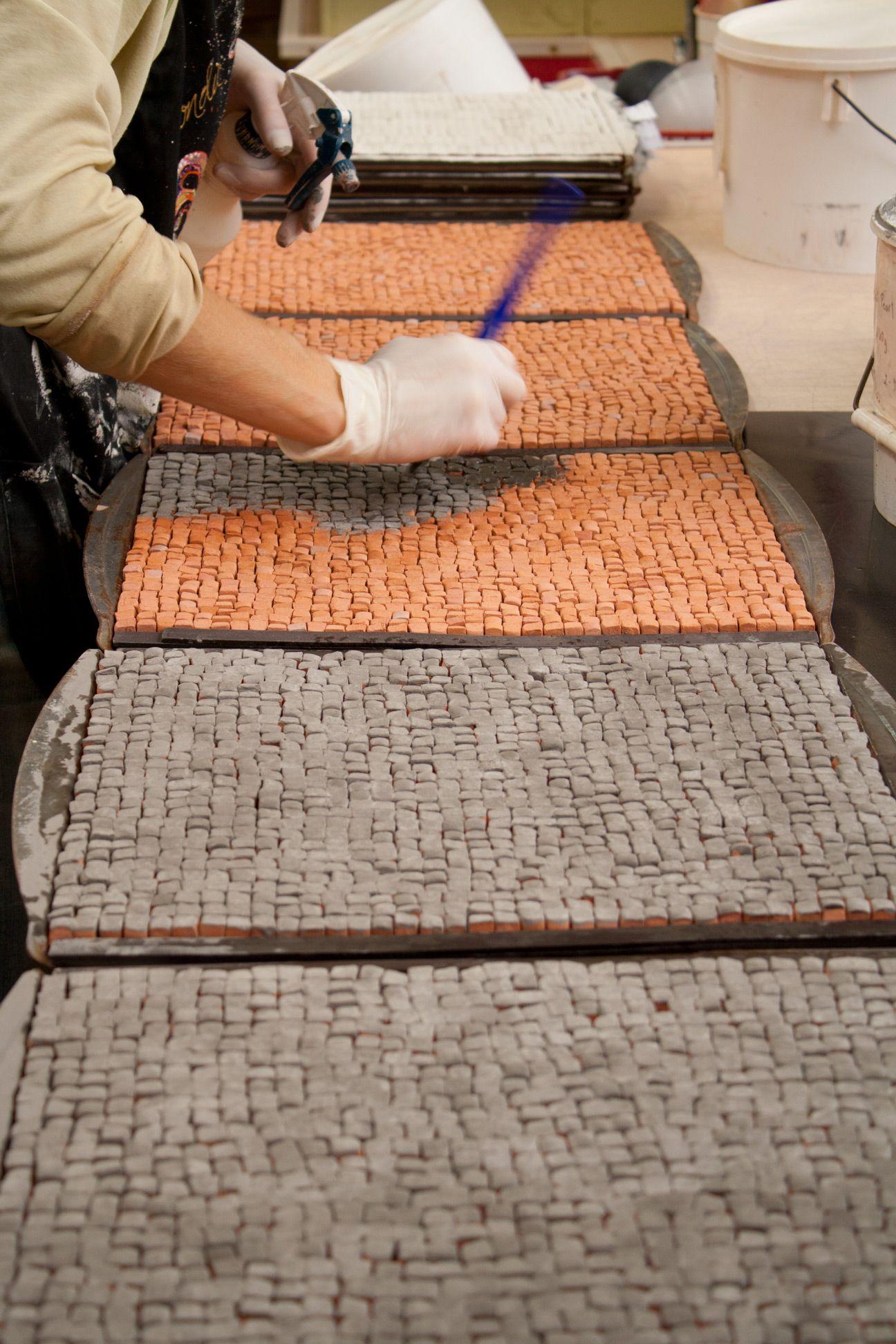 Confetti Tiles - Glaze Application