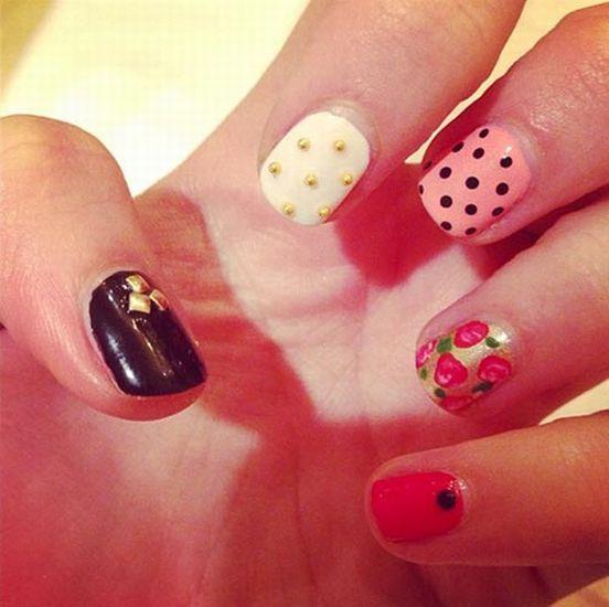 Mismatched nail design techniques nail design tips nail design mismatched nail design techniques nail design tips nail design tips prinsesfo Images