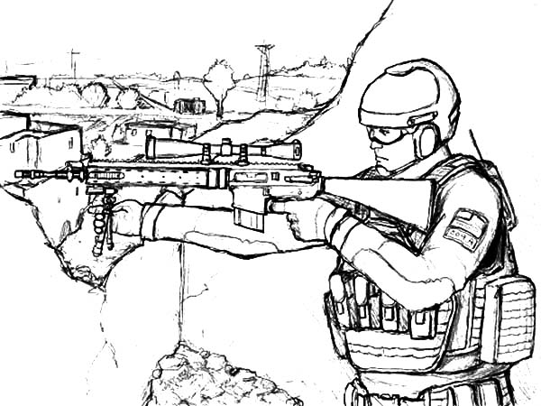Military Sniper Standing On His Spot Coloring Pages Color Luna In 2020 Coloring Pages Coloring Pictures Color