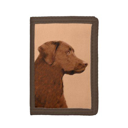 #Labrador Retriever (Chocolate) Tri-fold Wallet - #labrador #retriever #puppy #labradors #dog #dogs #pet #pets
