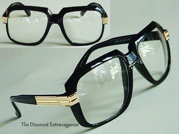 7fc7a81b7f08 Run Dmc Cazal Design Clear Lens Gazelle Style Sun Glasses with Metal Accents