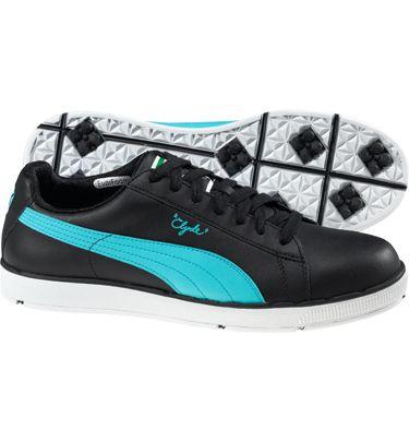 6ce13716091 Puma Mens PG Clyde Spikeless Golf Shoes (Black Blue)