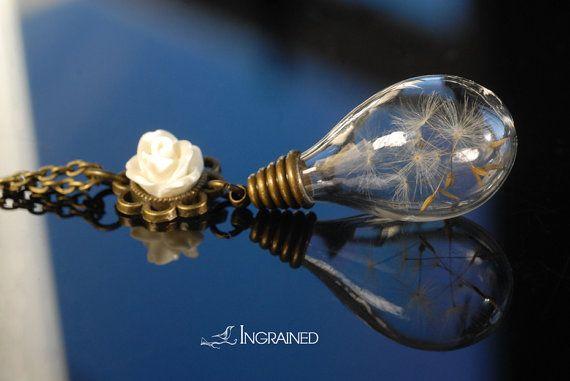 Dandelion Wish Bronze Necklace by IngrainedNZ